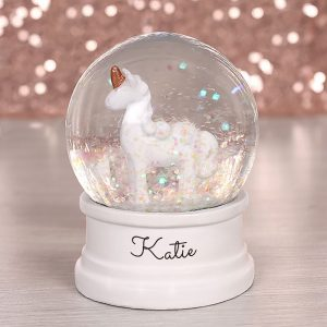 Personalised Unicorn Water Globe