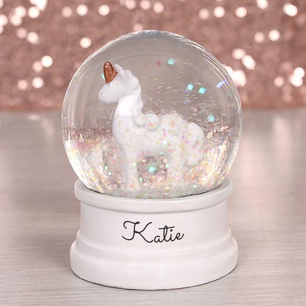 Personalised Unicorn Water Globe