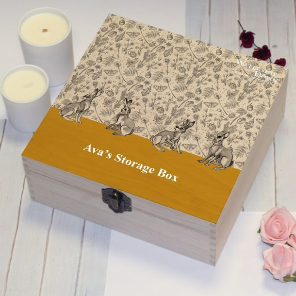 Personalised Watership Down Yellow Storage Box