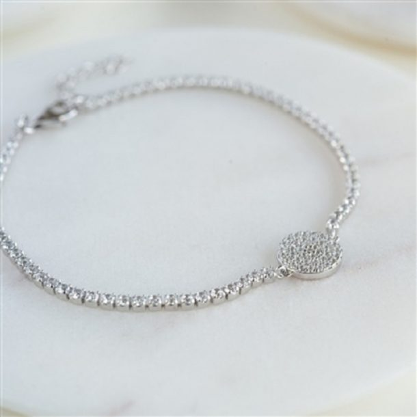 Silver Friendship Disk Bracelet & Personalised Gift Box