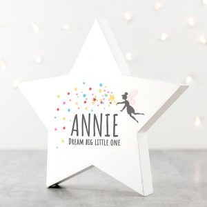 Personalised Big Dreams Star Wooden Keepsake