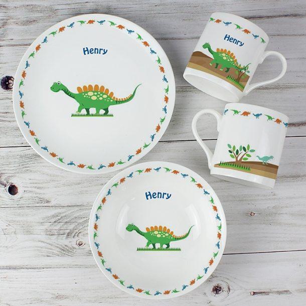 Personalised Dinosaur Breakfast Set