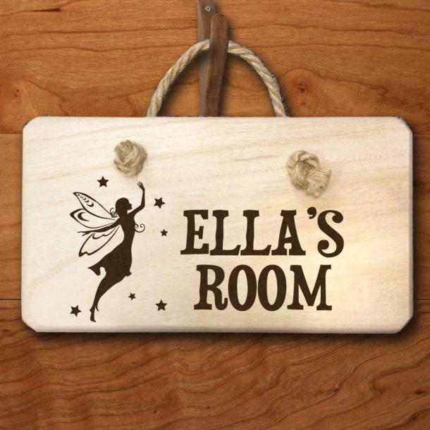 Personalised Fairy Wooden Door Hanger