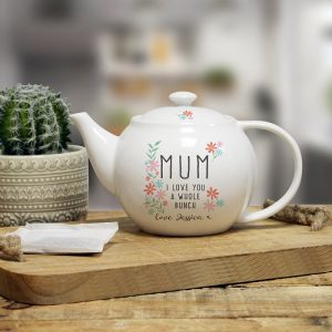 Personalised I Love You A Whole Bunch Tea Pot