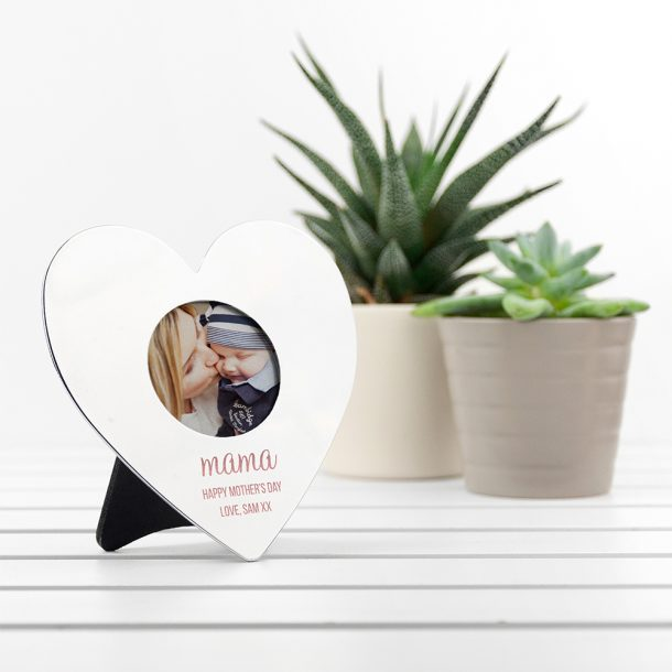 Personalised Mama's Mini Heart Photo Frame