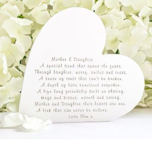 Personalised Mother & Daughter Freestanding Heart