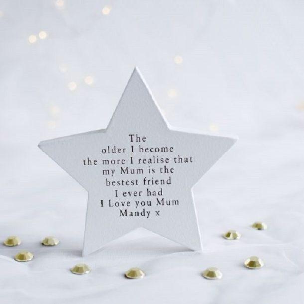 Personalised My Mum My Best Friend Freestanding Star