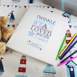 Personalised Twinkle Boys Traditional Photo Album