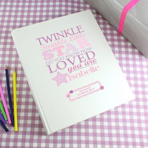 Personalised Twinkle Girls Traditional Photo Album