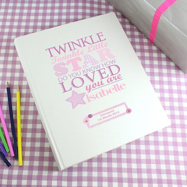 Personalised Twinkle Girls Traditional Photo Album