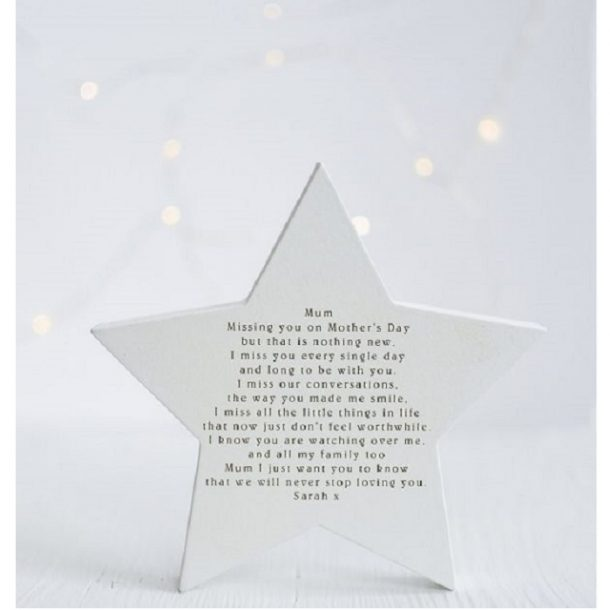 Remembering You On Mother's Day Freestanding Star