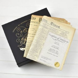 Original Newspaper & Luxury Keepsake Case - Any Date