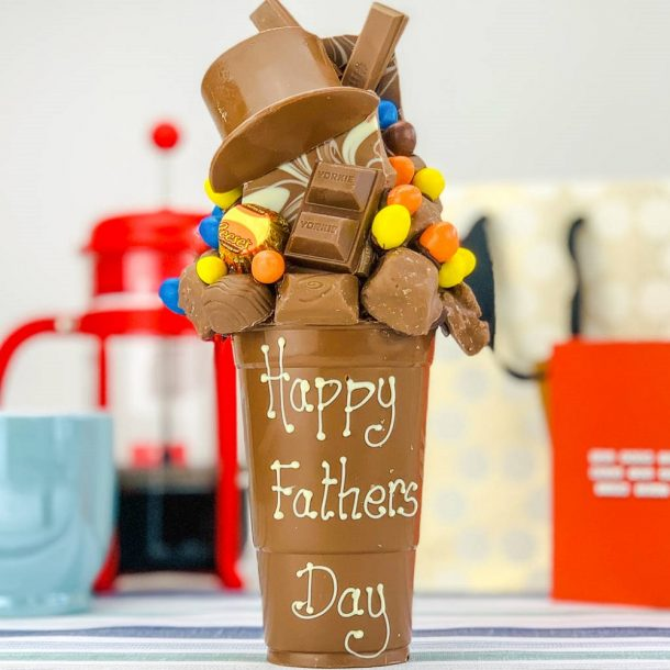 Personalised Fathers Day Milk Chocolate Smash Cup