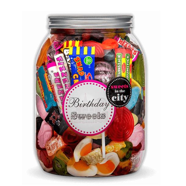 Personalised Giant Jar of Joy Birthday Sweets