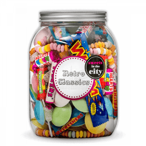 Personalised Giant Jar of Joy Retro Sweets