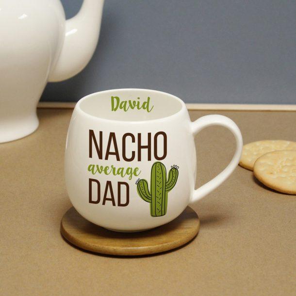 Personalised Nacho Average Dad Hug Mug