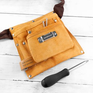 Personalised Six Pocket Leather Tool Belt