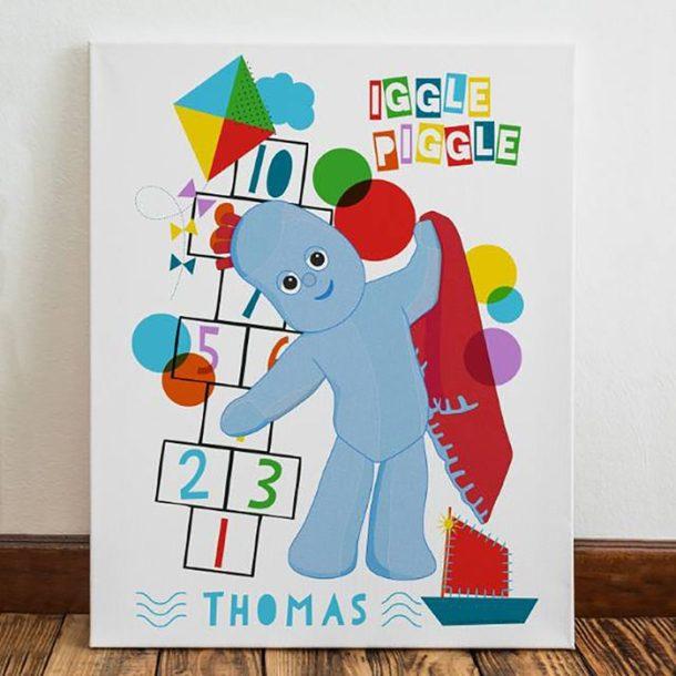Personalised Igglepiggle Hopscotch Canvas