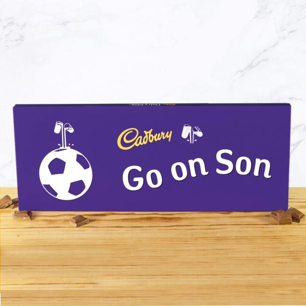 Personalised Football 850g Cadbury Dairy Milk Bar