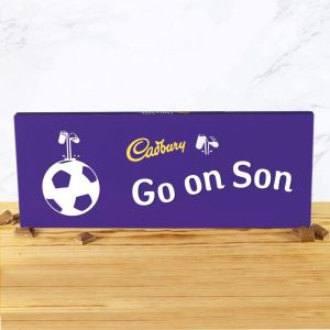 Personalised Football 850g Cadbury Dairy Milk Bar
