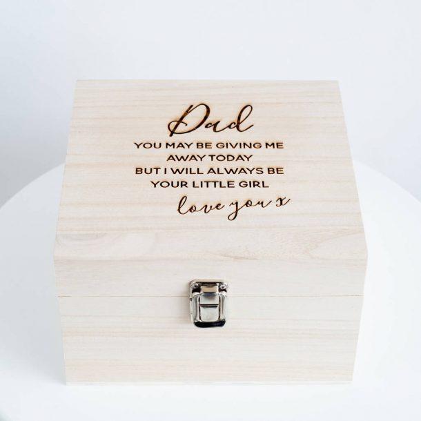 Dad 'Wedding' Keepsake Box