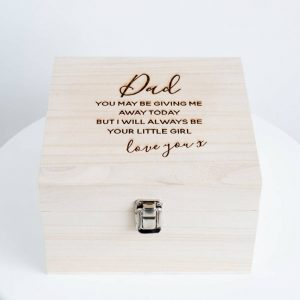 Dad 'Wedding' Keepsake Box