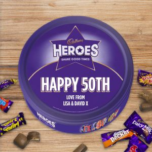 Personalised 580g Cadbury Heroes Tin