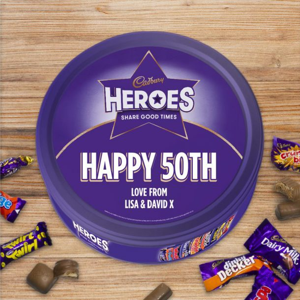 Personalised 580g Cadbury Heroes Tin