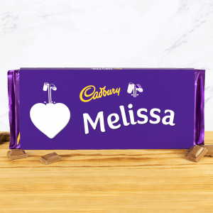 Personalised Cadbury Dairy Milk 360g Heart