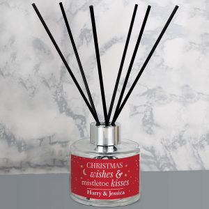 Personalised Christmas Wishes Reed Diffuser