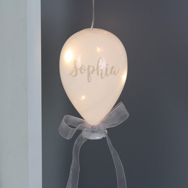 Personalised Name LED Glass Balloon