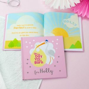 Personalised On the Day You Were Born Pink Book