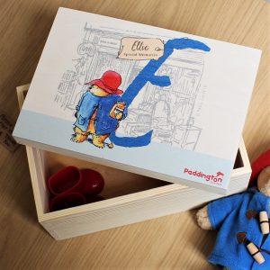 Personalised Paddington Bear Initial Memory Box