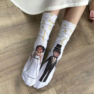 Personalised Photo Engagment Wedding Socks