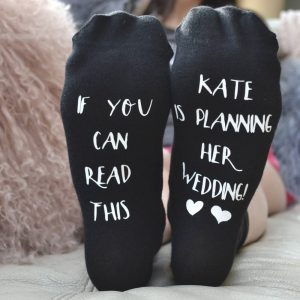 Personalised Wedding Planning Socks
