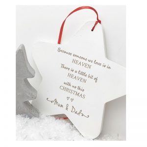 Personalised A Little Bit Of Heaven This Christmas Hanging Star