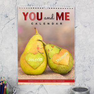 Personalised A4 Couple Wall Calendar