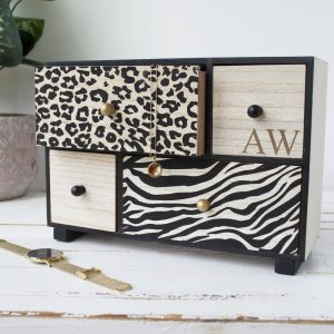 Personalised Animal Print Storage Drawers