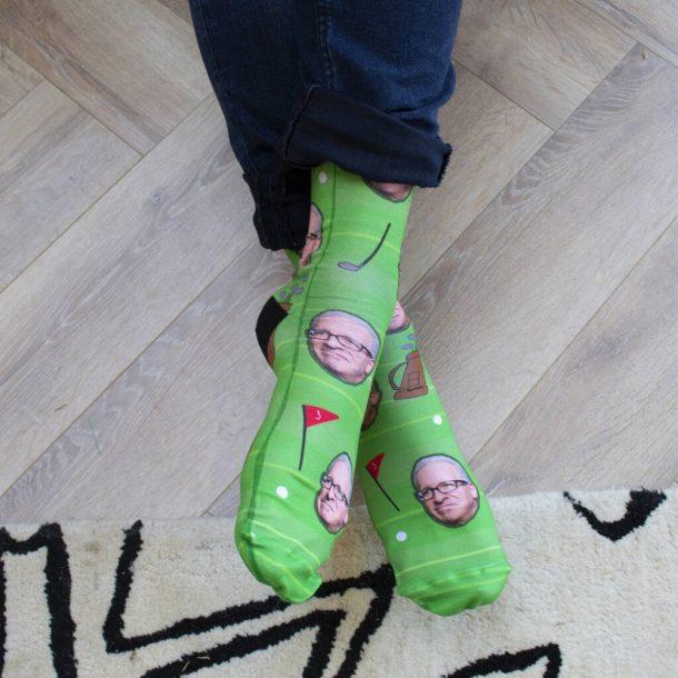 Personalised Golf Photo Socks