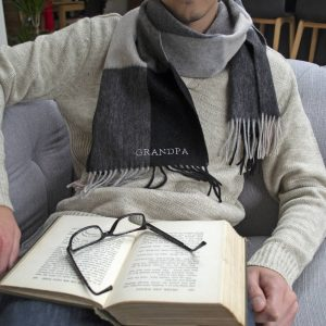 Personalised Grandpa Lambswool Scarf