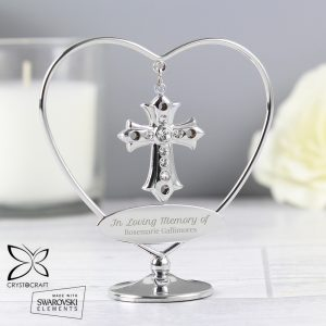 Personalised In Loving Memory Crystocraft Cross