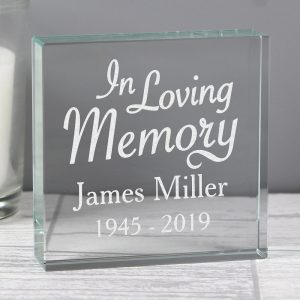 Personalised In Loving Memory Large Crystal Token