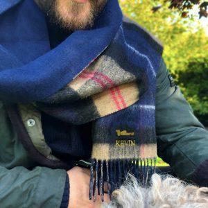 Personalised Lambswool Hobby Scarf