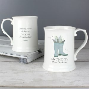 Personalised Mens Wellies 15oz Mug