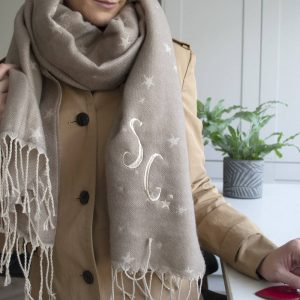 Personalised Monogram Star Blanket Scarf