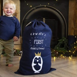 Personalised My First Christmas Penguin Sack
