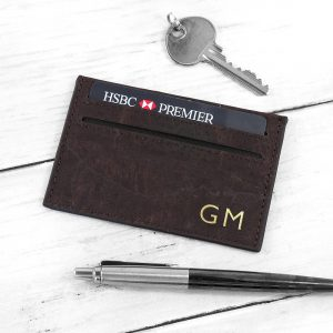 Personalised Natural Vegan Leather Cork Card Holder