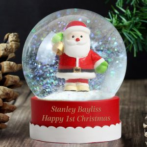 Personalised Santa Message Snow Globe