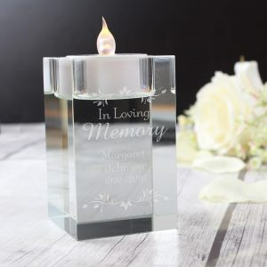 Personalised Sentiments Tea Light Holder