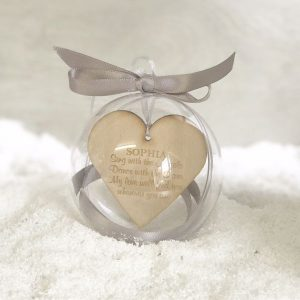 Personalised Sing With The Angels 10cm Memory Bauble